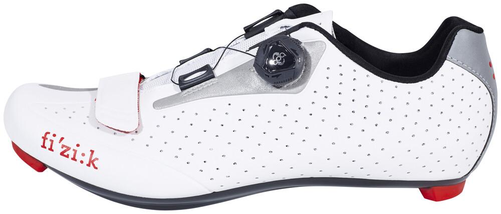 Chaussures Blanches Fizik Avec Des Hommes De Fermeture Velcro rLyaAo